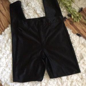 DIVIDED H&M Shiny Black Stretch Jeggins leggings S